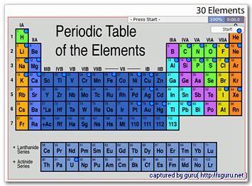30 Elements : 주기율표 30