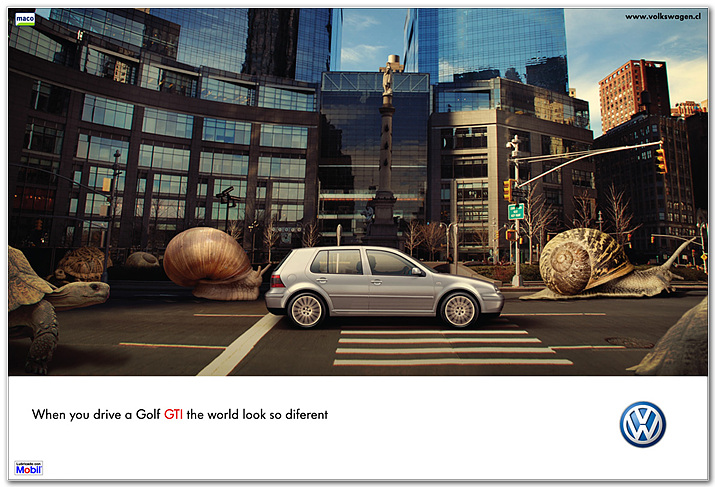 Volkswagen : When you drive a Golf GTI the world look so different