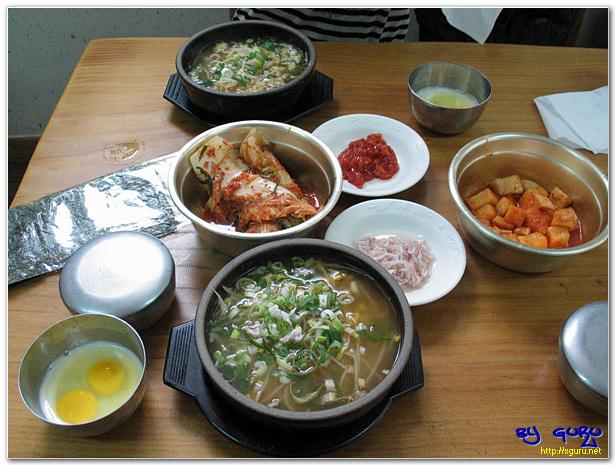 콩나물 국밥 한상