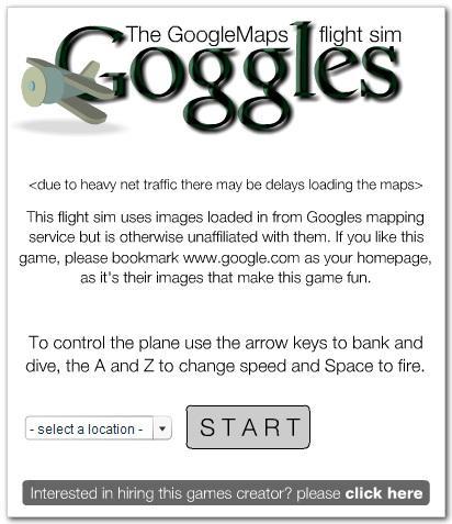 GoogleMaps Flight Simulator