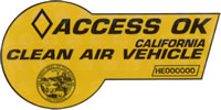 Clean Air Vehicle Sticker