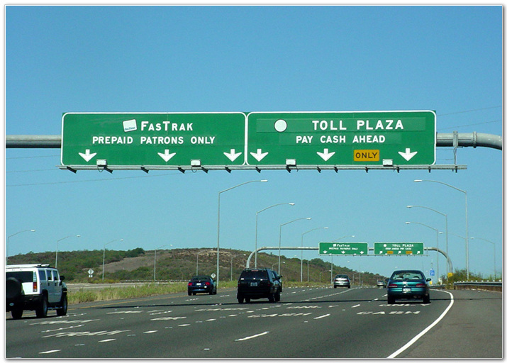 Toll road sign 2
