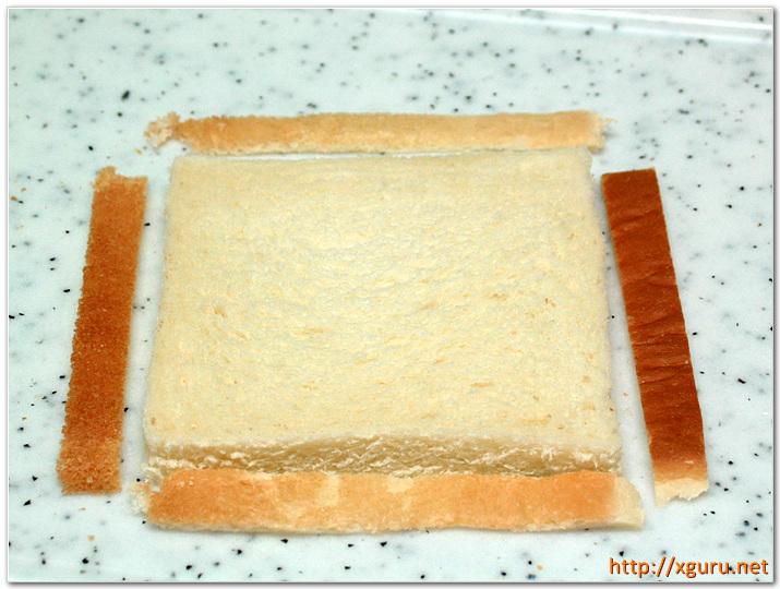 식빵 끝부분 자르기