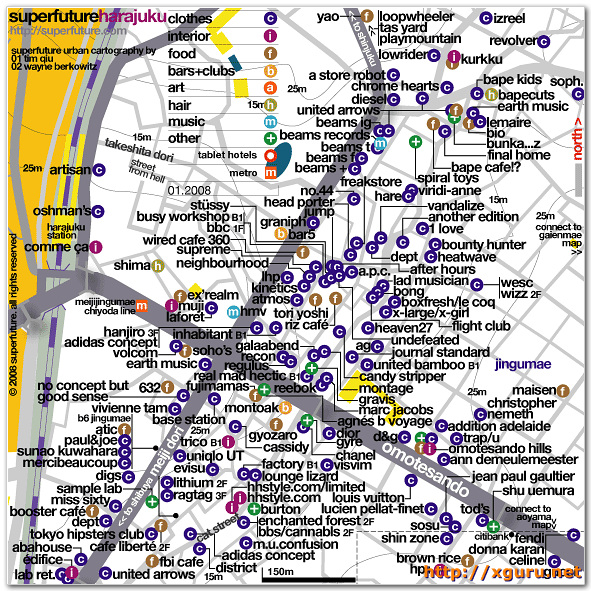 HaraJuku Shopping Map