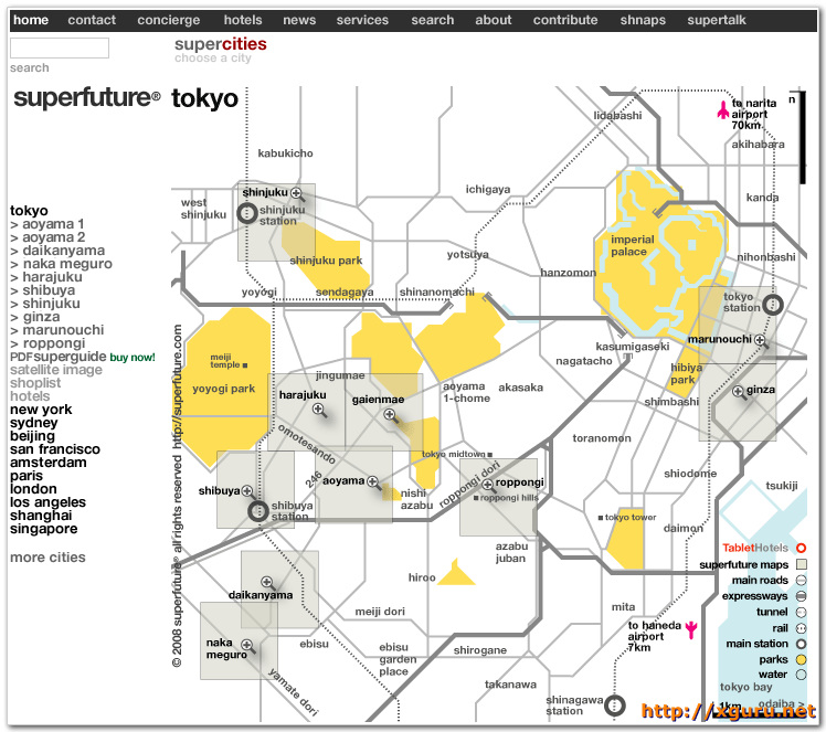 SuperFuture Shopping Maps