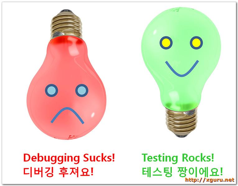 Debugging Sucks. Testing Rocks