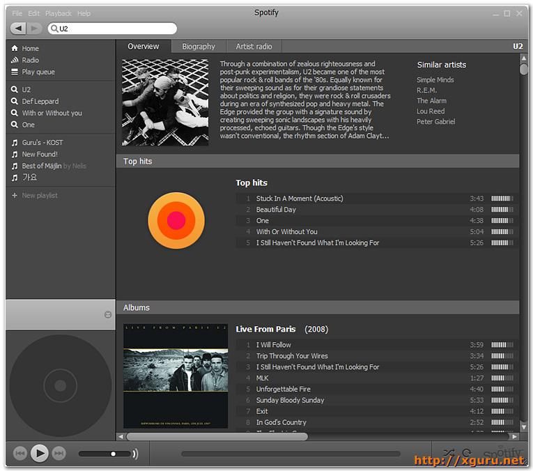 Spotify Artist Info