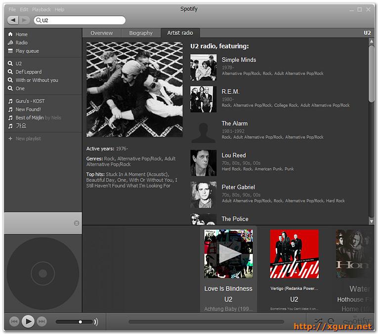 Spotify Artist Radio