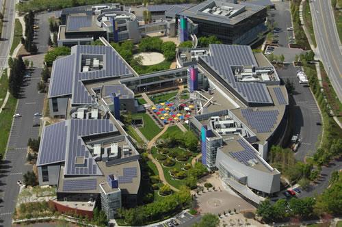 Google HQ, Mountain View, Solar Panel