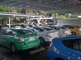 Electric Car Parking Lot at Google