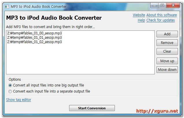 MP3 to M4b Audio Book Converter