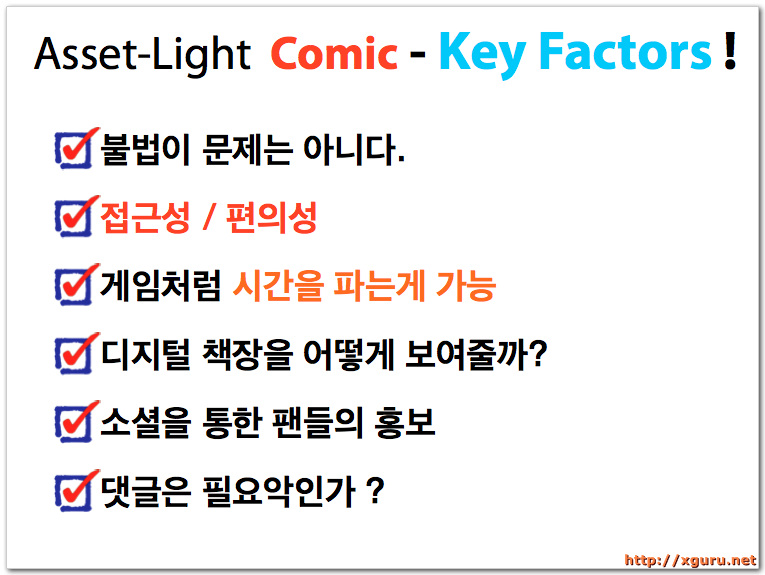 Asset-Light Comic Key Factors
